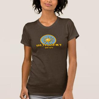 Velocidad de la luz Sun en camiseta azul del