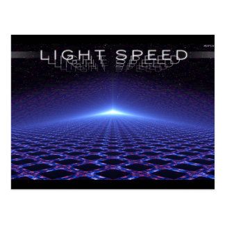 Velocidad de la luz tarjetas postales