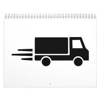Velocidad del camión calendario de pared