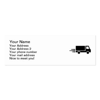 Velocidad del camión tarjetas de visita mini