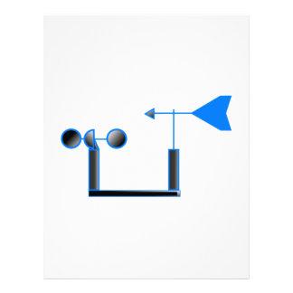Velocidad del viento azul y paleta de tiempo membrete personalizado