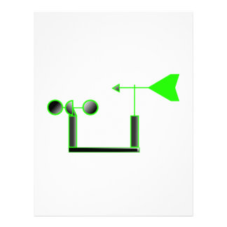 Velocidad del viento verde y paleta de tiempo membrete a diseño