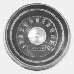 Velocidad del vintage pegatina redonda