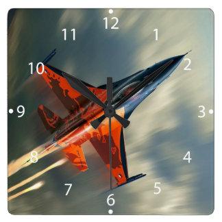 Velocidad militar del aeroplano del avión de reloj cuadrado