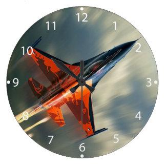 Velocidad militar del aeroplano del avión de reloj redondo grande