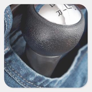 Velocidad pocked calcomania cuadrada personalizada