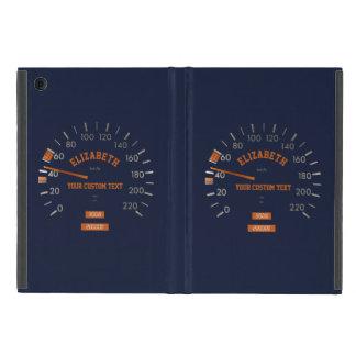 Velocímetro azul en caso del iPad del tablero de iPad Mini Carcasas