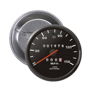 Velocímetro de la obra clásica 911 (coche pin redondo 5 cm