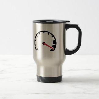 Velocímetro del coche de la velocidad taza