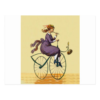 Velocipede~Coming Back From Feast 1887  F.Sinnett Postcard