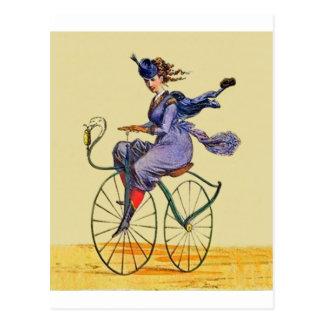 Velocipede ~ Winter Dress 1887 by F.Sinnett Postcard