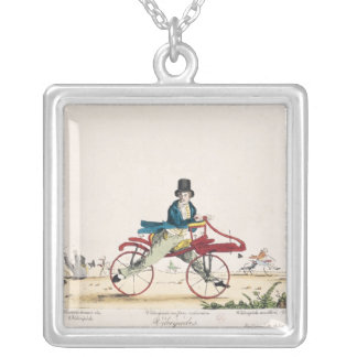 Velocipedes Silver Plated Necklace