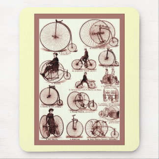 Velocipedes Vintage Advertising Poster Mousepads