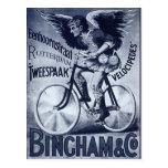 Velocípedos de Bingham y del Co. Tarjeta Postal