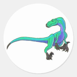 Velociraptor 3 pegatina redonda