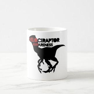 velociraptor awareness classic white coffee mug