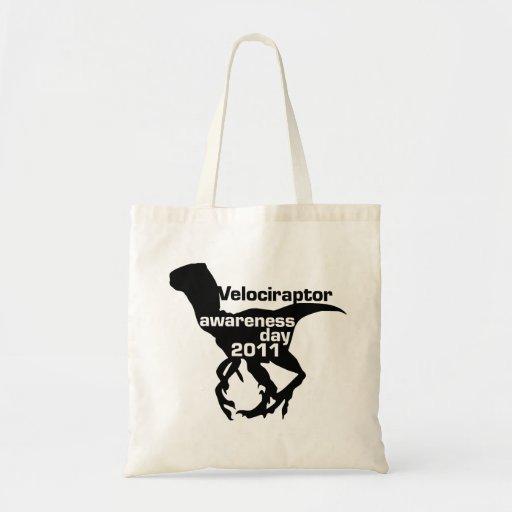 Velociraptor awareness day 2011 budget tote bag