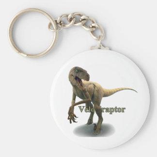 Velociraptor Basic Round Button Keychain