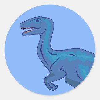 Velociraptor (cara) pegatina redonda