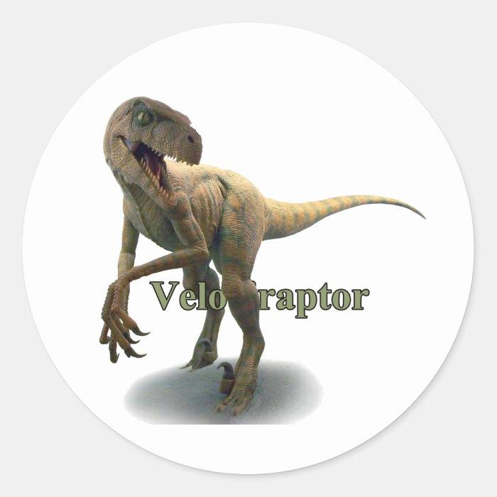 Velociraptor Classic Round Sticker