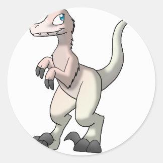 Velociraptor de encargo - estilo en colores pastel etiquetas