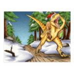 Velociraptor de Santa Tarjeta Postal