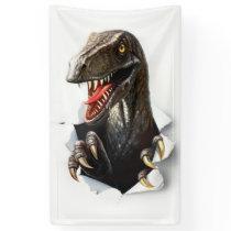 Velociraptor Dinosaur Banner
