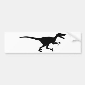 Velociraptor Dinosaur Bumper Sticker