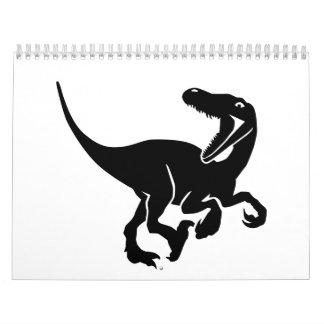 Velociraptor dinosaur calendar