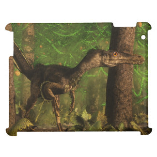 Velociraptor dinosaur in the forest case for the iPad 2 3 4