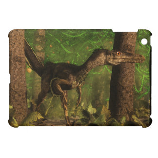 Velociraptor dinosaur in the forest iPad mini covers
