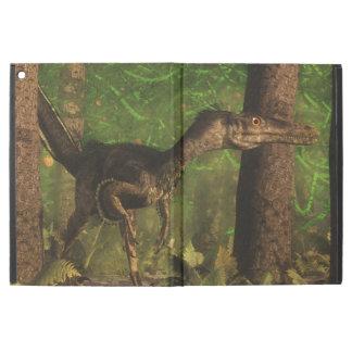 "Velociraptor dinosaur in the forest iPad pro 12.9"" case"