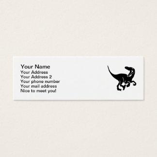 Velociraptor dinosaur mini business card