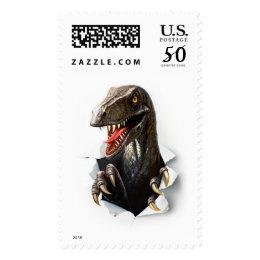 Velociraptor Dinosaur Postage Stamp