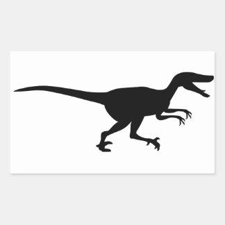 Velociraptor Dinosaur Rectangular Sticker
