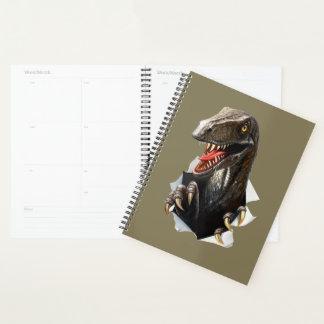 Velociraptor Dinosaur Spiral Planner