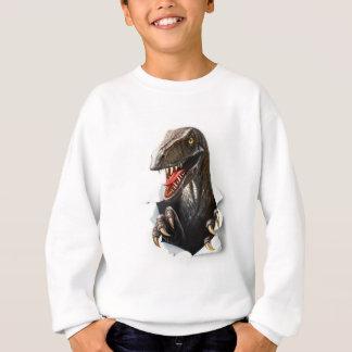 Velociraptor Dinosaur White Sweatshirt