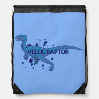 Velociraptor Drawstring Backpack