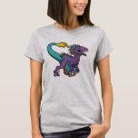 Velociraptor emplumado púrpura de Chibi Playera