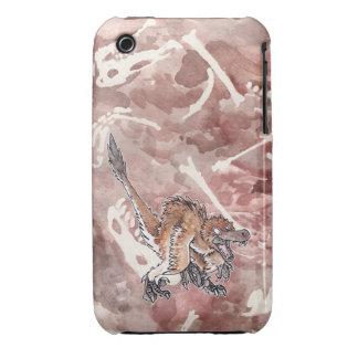 Velociraptor enojado Case-Mate iPhone 3 cárcasa