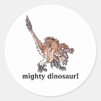 Velociraptor enojado etiquetas
