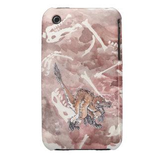 Velociraptor enojado iPhone 3 Case-Mate carcasa