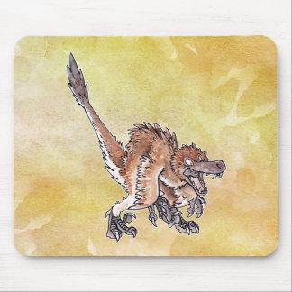 Velociraptor enojado tapetes de raton
