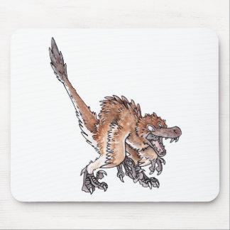 Velociraptor enojado tapetes de ratones