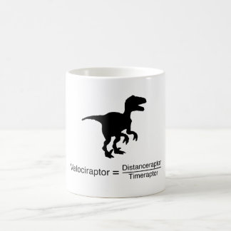 velociraptor funny science coffee mug