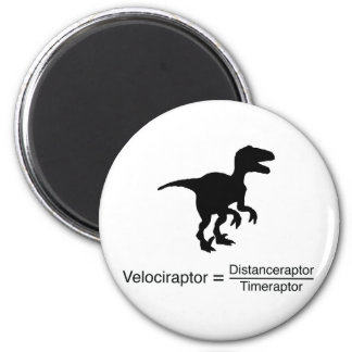 velociraptor funny science magnet