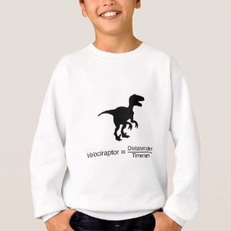 velociraptor funny science sweatshirt