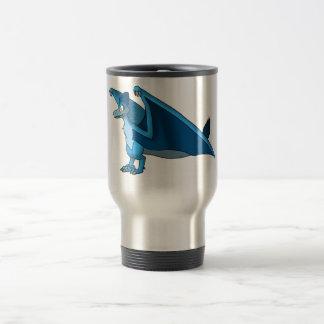 Velociraptor/híbrido de Quetzalcoatlus - azul Taza Térmica