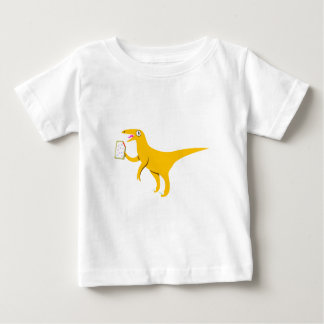 Velociraptor Holding a Poptart Baby T-Shirt