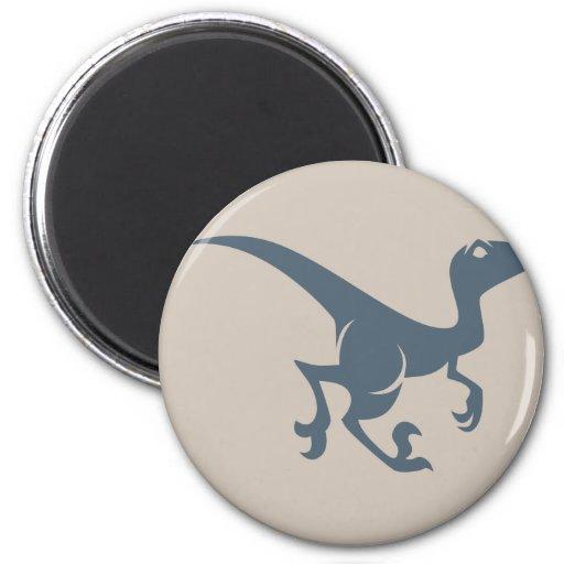 Velociraptor Icon 2 Inch Round Magnet